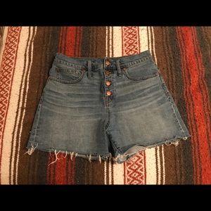 Madewell high waisted jean shorts